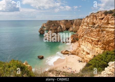 Praia da Marinha, Carvoeiro, Algarve, Portugal - Stock Photo