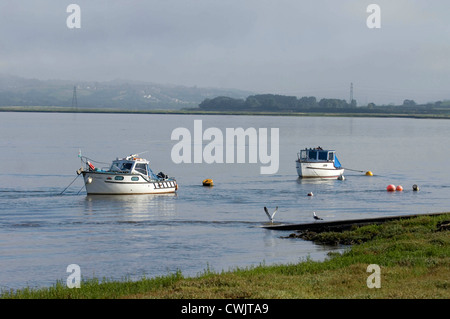 The Loughor Estuary near Llanelli in South West Wales. - Stock Photo