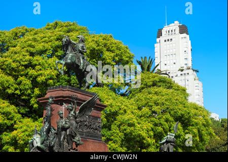 General San Martin Monument, Plaza San Martin, Buenos Aires, Argentina - Stock Photo