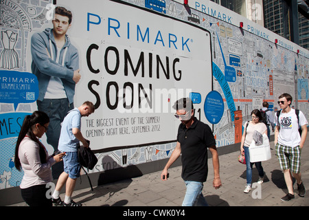Coming soon new Primark retail clothes shop on Oxfords Street in London, UK. - Stock Photo