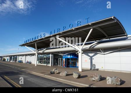 Inverness airport highland scotland uk united kingdom - Stock Photo