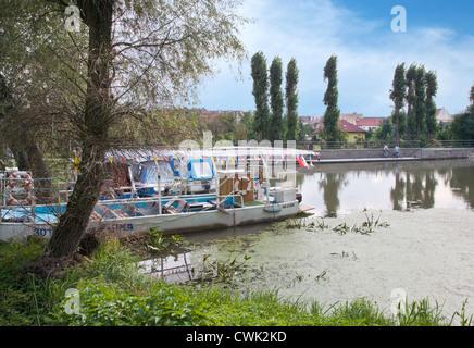 Batuv kanal, reka Morava, Straznice, Slovacko, Morava, Ceska republika - Stock Photo