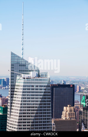 Bank of America Tower at One Bryant Park is a 1,200 ft (366 m) skyscraper in the Midtown district of Manhattan in - Stock Photo