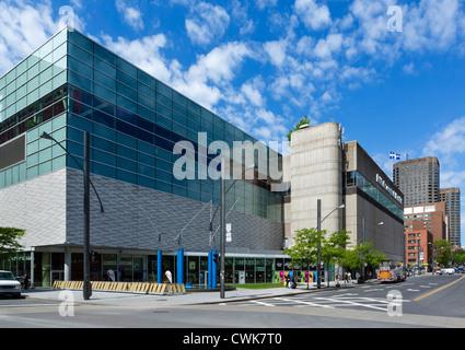 The Palais des Congres de Montreal convention centre, Quartier International, Montreal, Quebec, Canada - Stock Photo