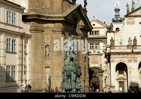 Charles IV of Luxembourg, I of Bohemia and IV of Germany (1316-1378). Holy Roman Emperor and king of Bohemia. Statue. - Stock Photo