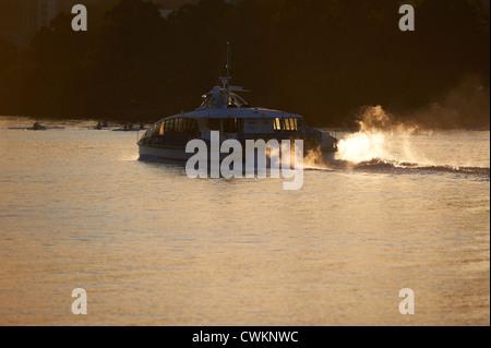 Brisbane citycat ferry on the Brisbane River Queensland Australia - Stock Photo