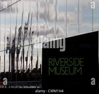 The Riverside Museum, Glasgow. Designed by Iraqi architect Zaha Hadid - Stock Photo