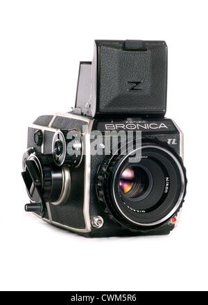 Zenza Bronica tl 6x6 medium format camera cutout - Stock Photo