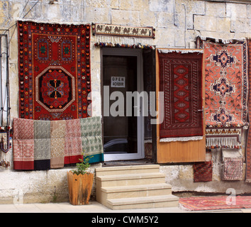 Baku, Azerbaijan. Carpet shop in the Old town - Stock Photo