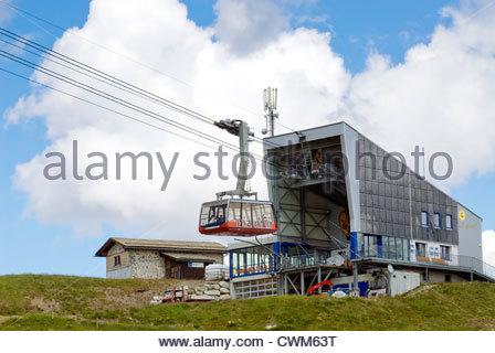 Piz Nair Funicular, St.Moritz, Grisons, Switzerland | Piz Nair Standseilbahn, St.Moritz, Switzerland - Stock Photo
