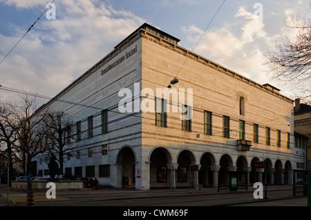 Kunstmuseum facade in Basel, Switzerland. - Stock Photo