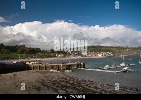 Lyme Regis viewed from The Cobb, Dorset, UK - Stock Photo