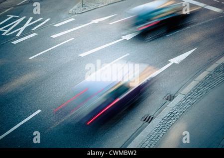 Germany, Bavaria, Munich, Traffic on road - Stock Photo