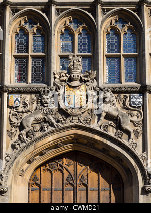 Entrance and coat of arms, Brasenose College Oxford 2 - Stock Photo