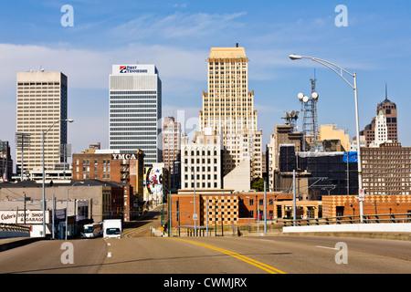 Skyline of Memphis, Tennessee - Stock Photo