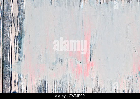 Background of old wood wall with peeling paint - Stock Photo