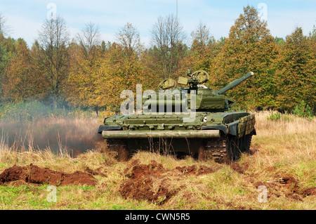 Tank on field. - Stock Photo