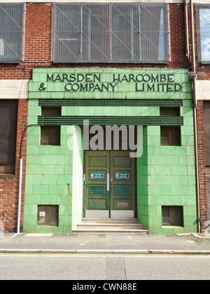 Entrance to Marsden Harcombe & Company Limited now Greater Manchester County Records office Manchester UK - Stock Photo