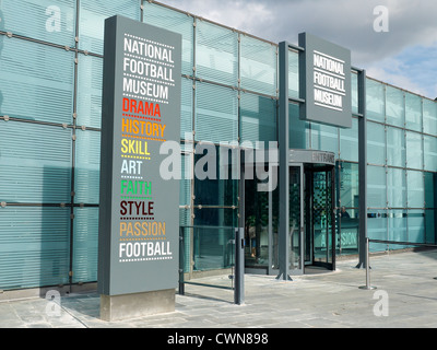 Entrance to Urbis National Football Museum in Manchester UK - Stock Photo