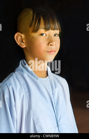 Young monk from Hue, Vietnam - Stock Photo