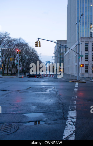 After the rain, early morning Brooklyn Heights. - Stock Photo