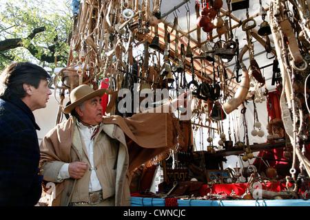The Sunday Market in San Telmo. Buenos Aires, Argentina - Stock Photo