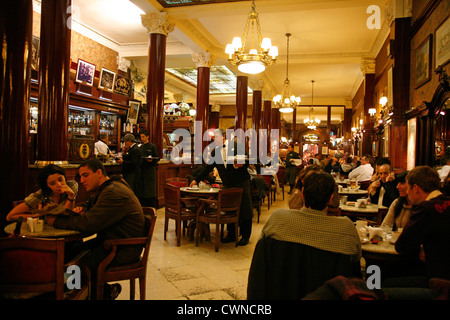 Cafe Tortoni, Buenos Aires, Argentina. - Stock Photo