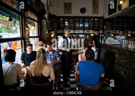 Bar Dorrego in San Telmo, Buenos Aires, Argentina. - Stock Photo