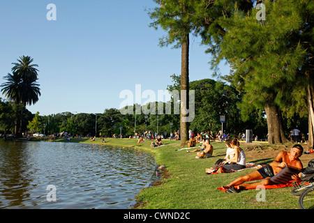Parque 3 de Febrero in Palermo, Buenos Aires, Argentina. - Stock Photo