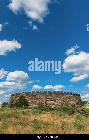Slavic fort Raddusch is a faithful reproduction of a Slavic refuge fort near Vetschau/Spreewald, Brandenburg, Germany, - Stock Photo