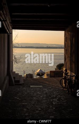 The Lake in Zug, Switzerland. - Stock Photo