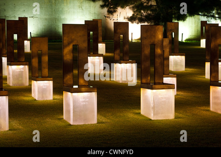 Oklahoma City Bombing Memorial Chairs - Stock Photo