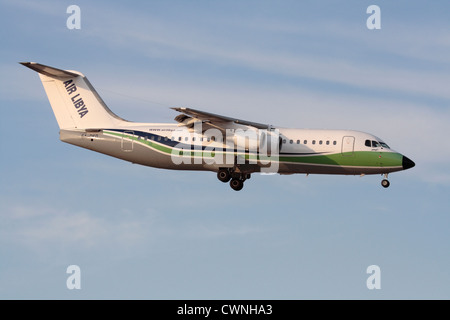 Air Libya BAe 146 regional jetliner - Stock Photo