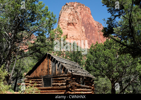 Larson Cabin along taylor creek Kolob Canyon Section Zion National Park Utah