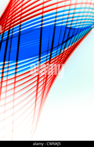 A red and blue physiogram on a white background - Stock Photo