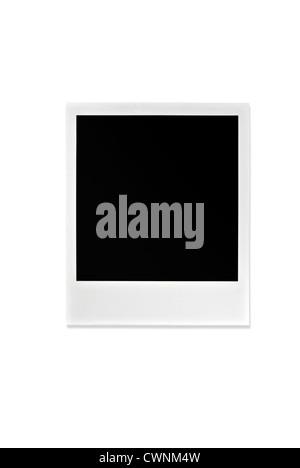 Black Polaroid, blank Polaroid frame, isolated on 100% white background - Stock Photo