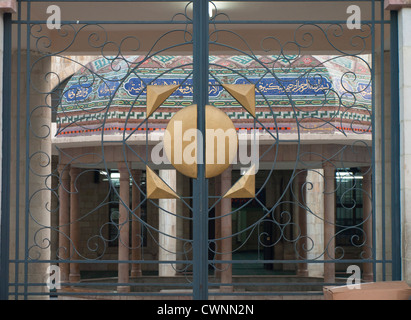 gate to the grand mosque in Amman Jordan - Stock Photo