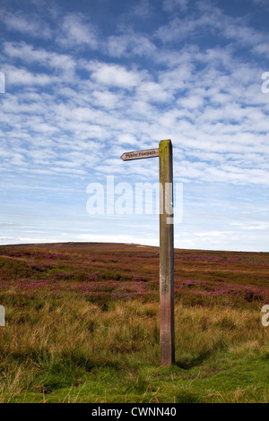 Redmire and Grinton Moors to Reeth. Autumn in the North Yorkshire Dales, Richmondshire, UK - Stock Photo