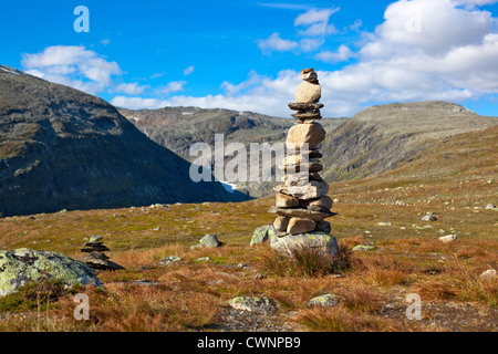 Big hand-made stone tower in Norway. - Stock Photo