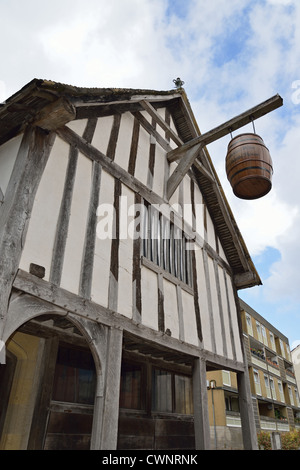 13th century Medieval Merchant's House, French Street, Old City, Southampton, Hampshire, England, United Kingdom - Stock Photo