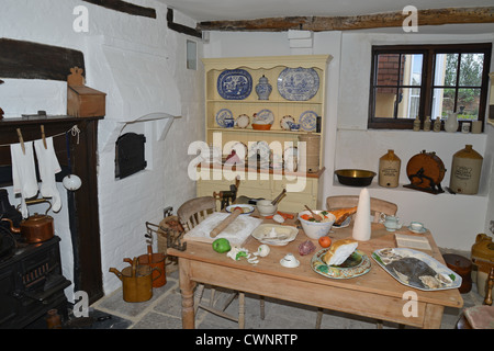Victorian kitchen in Tudor House Museum, Bugle Street, Southampton, Hampshire, England, United Kingdom - Stock Photo