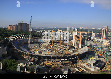 Ukraine. Kiev. Reconstruction of the stadium - Stock Photo
