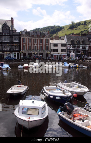 Boats in the harbour at Dartmouth, Devon, UK - Stock Photo