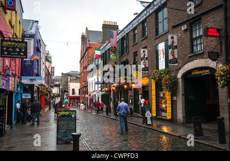 Temple bar in Dublin, Ireland - Stock Photo