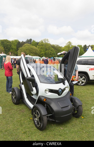 A Renault Twizy electric car on display at the Lancashire Countryside Experience Day near at Witton Country Park - Stock Photo