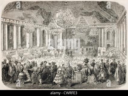 Masquerade ball in the Hotel d'Albe, Paris