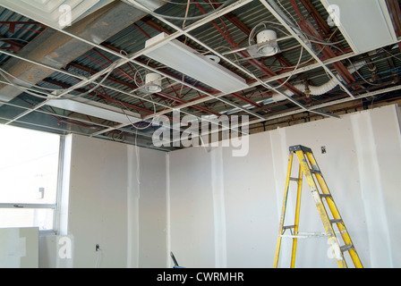 Ladder Inside Construction Site - Stock Photo