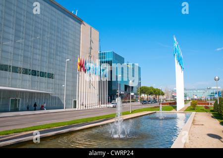 Palacio de Congresos (Convention Center), by Norman Foster. Valencia Stock Ph...