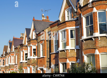 Row Of Typical English Houses In Richmond London
