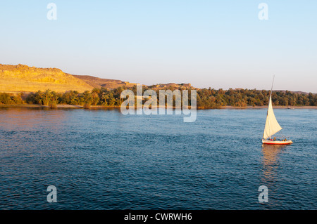 Upper Egypt, Nile river countryside between Luxor and Aswan - Stock Photo
